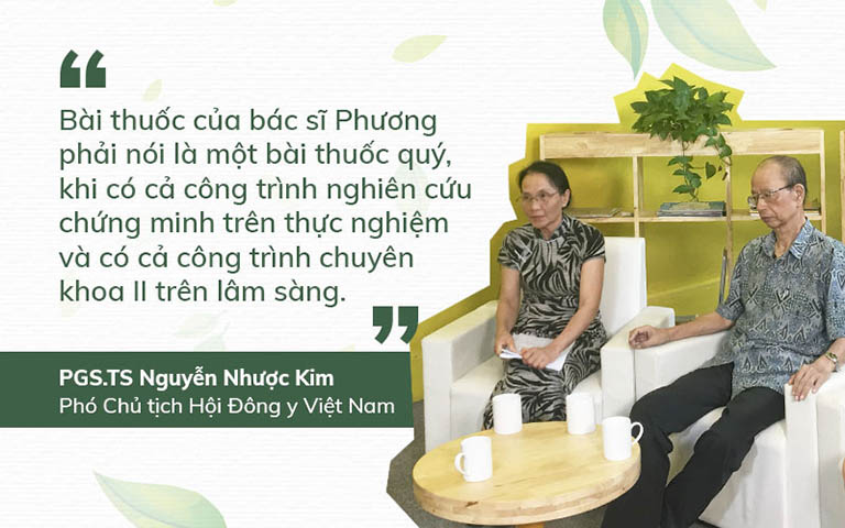 Cố PGS.TS Nguyễn Nhược Kim đánh giá cao bài thuốc