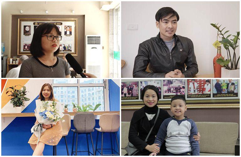Một số bệnh nhân đã tin tưởng sử dụng bài thuốc viêm họng Đỗ Minh Đường, trong đó có mẹ con chị Hiền (hình ảnh dưới cùng bên phải)