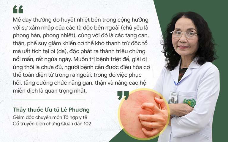 Bác sĩ Lê Phương chia sẻ về cơ chế gây bệnh mề đay và cách điều trị