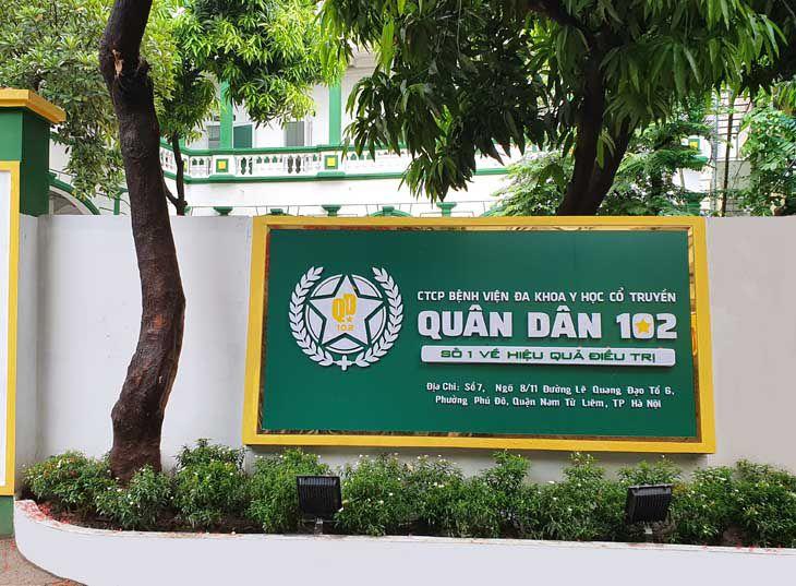Bệnh viện Quân dân 102 là địa chỉ chữa mề đay uy tín