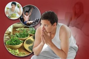 Chồng yếu sinh lý nên kết hợp ăn uống, tập luyện điều độ