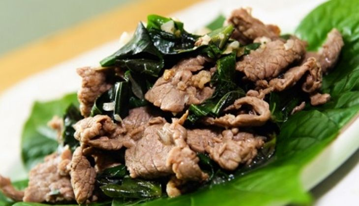Chữa yếu sinh lý bằng lá lốt và thịt bò