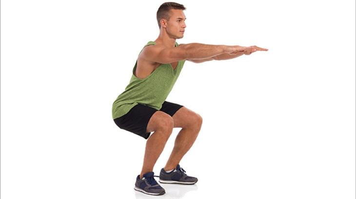 Bài tập squats giúp cải thiện vấn đề sinh lý của cánh mày râu