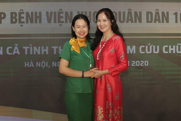 Nghệ sĩ ưu tú Thanh Hiền có mặt tại Quân dân 102 chia sẻ về kết quả điều trị bệnh của mình