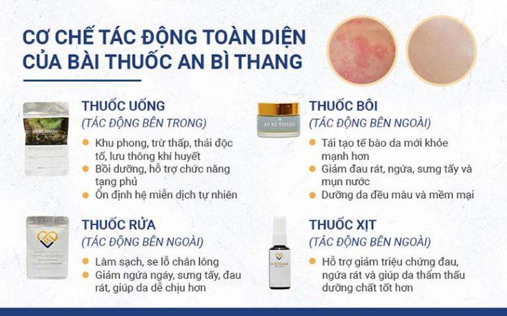 Bài thuốc An Bì Thang gồm 4 chế phẩm với cơ chế tác động toàn diện