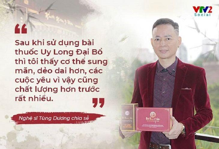 Nghệ sĩ Tùng Dương chia sẻ về hiệu quả sử dụng bài thuốc