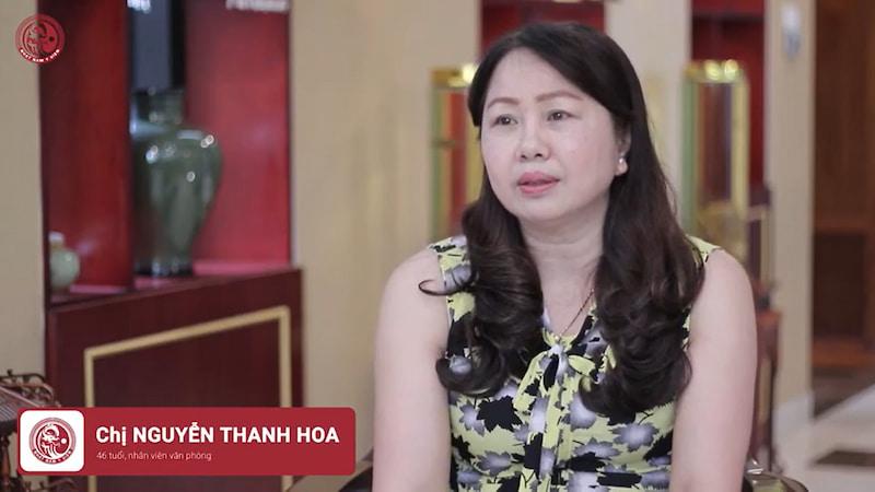 Chị Thanh Hoa - Bệnh nhân lâu năm tại Nhất Nam y viện