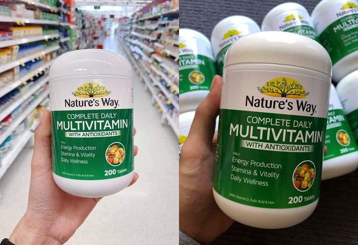 Nature Way Multivitamin chứa nhiều thành phần dinh dưỡng cơ thể