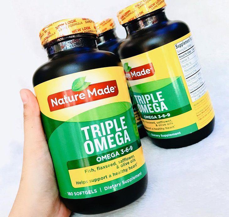 Viên uống Nature made triple omega 3-6-9 là sản phẩm nổi tiếng của Mỹ