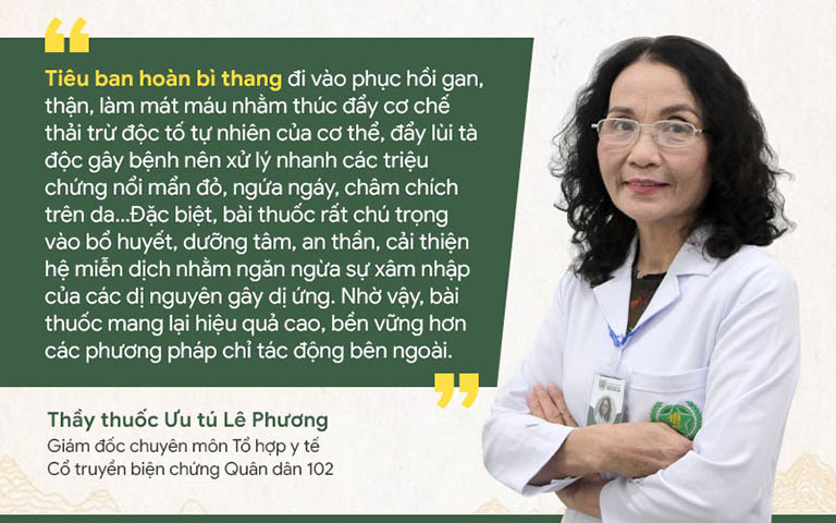 Bác sĩ Lê Phương chia sẻ về Tiêu ban hoàn bì thang