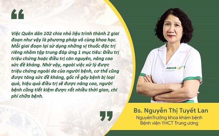 Bác sĩ Nguyễn Thị Tuyết Lan đánh giá về bài thuốc Tiêu ban hoàn bì thang