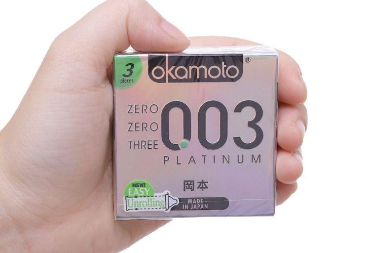 Okamoto Platinum sử dụng cao su tự nhiên