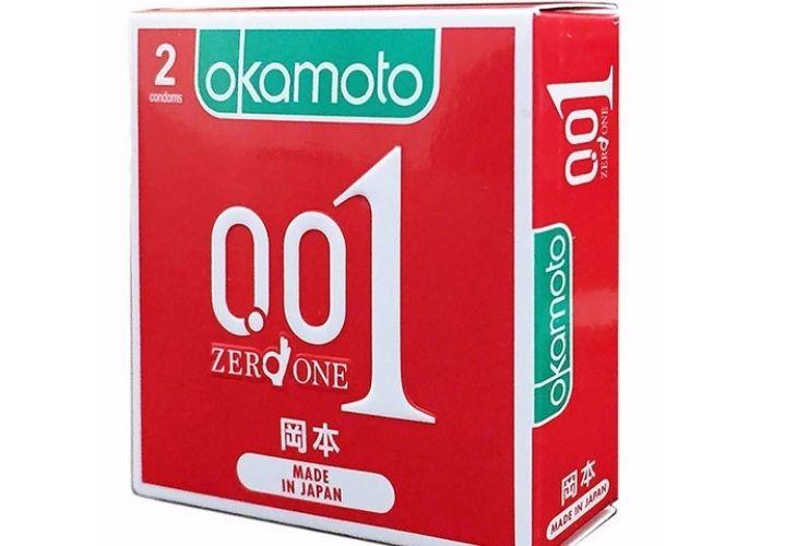 Bao cao su Okamoto kéo dài thời gian - Zero One 0.01 là sản phẩm có thiết kế mỏng nhất hiện nay