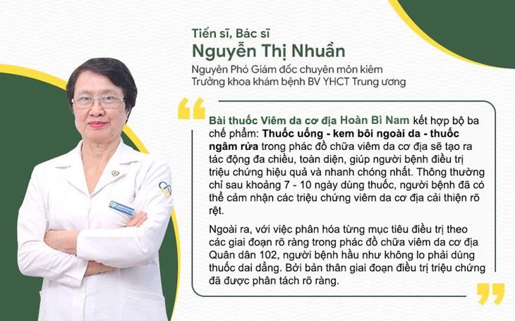 Bác sĩ Nguyễn Thị Nhuần đánh giá về bài thuốc Hoàn Bì Nam