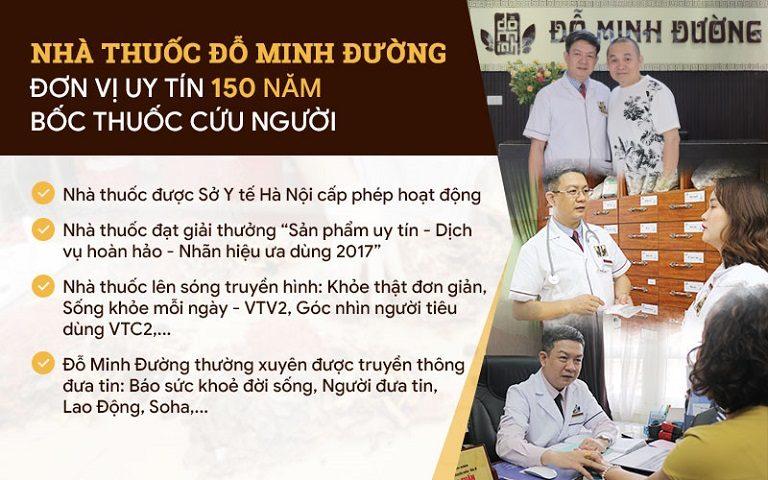 Nhà thuốc Đỗ Minh Đường là địa chỉ chẩn trị YHCT uy tín