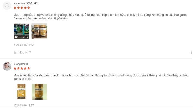 Có khá nhiều review từ khách hàng trên Shopee