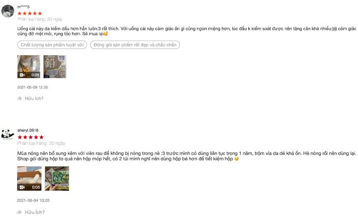 Kẽm DHC nhận được rất nhiều phản hồi tích cực từ người dùng