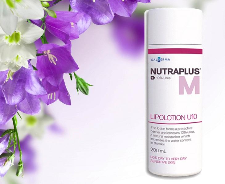 Kem bôi Nutraplus Lipolotion U10 10% Urea chứa nhiều thành phần lành tính an toàn cho da