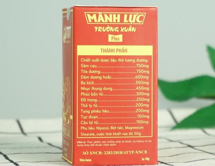 Sản phẩm chứa các thảo dược lành tính và gần gũi với người Việt