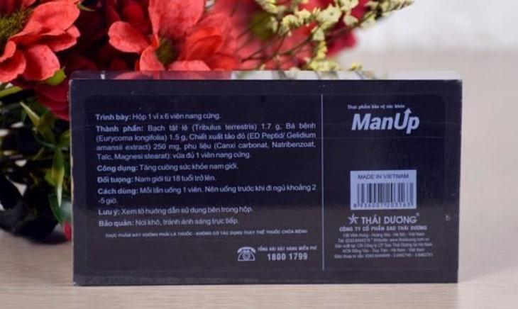 Sử dụng ManUp Thái Dương giúp gia tăng bản lĩnh đàn ông