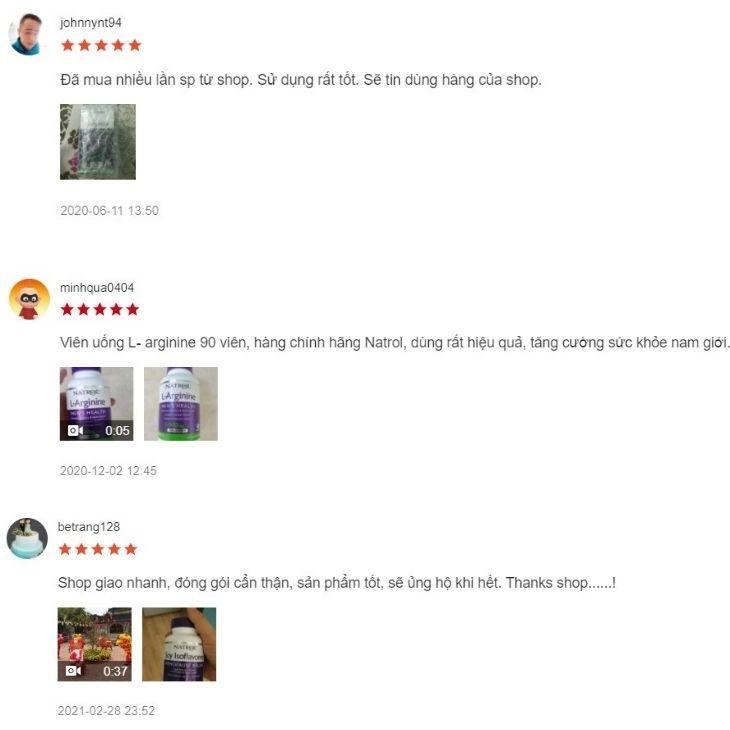 Đánh giá chân thực của người dùng trên các sàn thương mại điện tử mà kênh mua hàng online