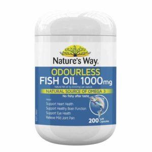 Nature's way fish oil 1000mg 200 capsules là một loại thực phẩm chức năng rất tốt cho sức khỏe