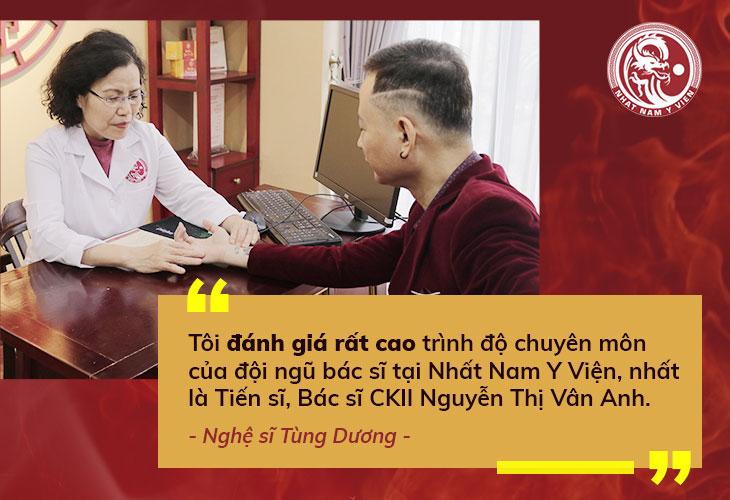 Nghệ sĩ Tùng Dương dành nhiều lời khen cho bác sĩ Vân Anh