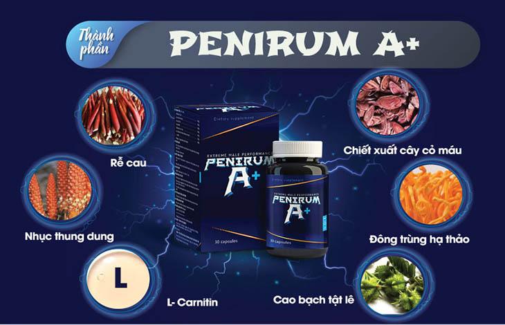 Penirum A+ có chiết xuất từ các dược liệu thiên nhiên