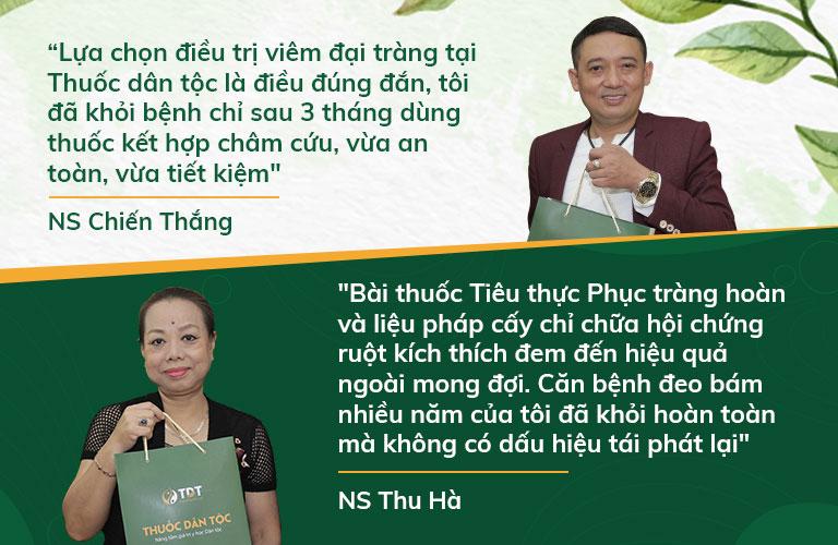Nghệ sĩ Chiến Thắng, Thu Hà chia sẻ về hiệu quả bài thuốc