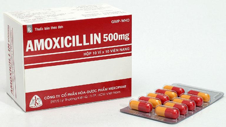 Amoxicillin là loại kháng sinh điều trị vi khuẩn Hp dạ dày được sử dụng phổ biến nhất