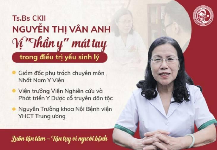 TS.BS Nguyễn Thị Vân Anh - người có hơn 30 năm kinh nghiệm điều trị bệnh về nam khoa