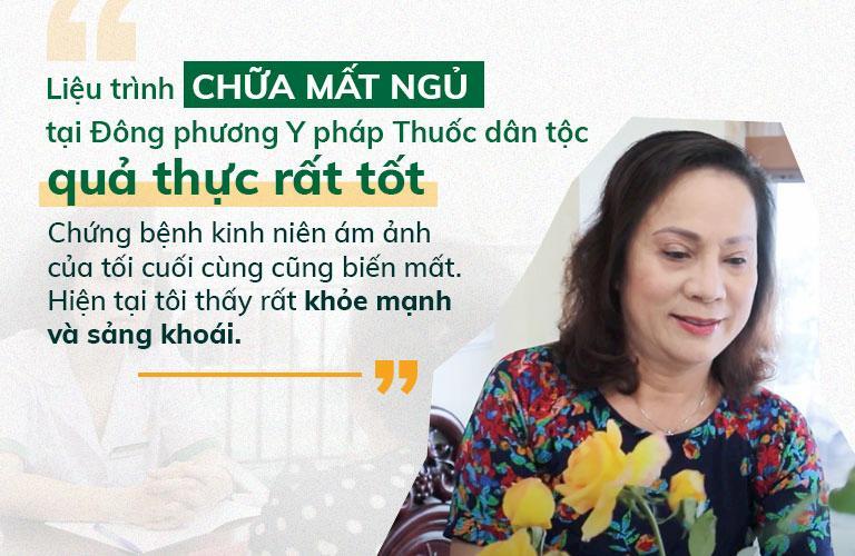 NS Hương Dung hài lòng với chất lượng dịch vụ Đông phương Y pháp