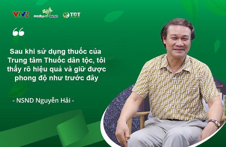 Mãnh lực Phục dương khang được VTV2 đưa tin, nghệ sĩ Nguyễn Hải tin dùng