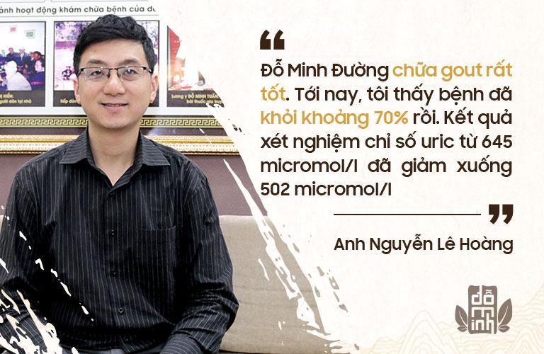 Anh Hoàng chia sẻ về hiệu quả bài thuốc Gout Đỗ Minh