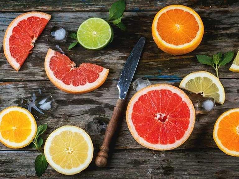 Trái cây có múi chứa hàm lượng acid rất cao, không thích hợp cho người bị nhiễm khuẩn Hp sử dụng