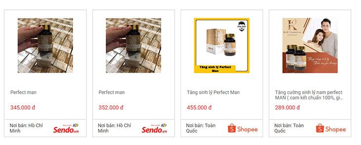 Tham khảo giá bán sản phẩm hiện tại trên thị trường
