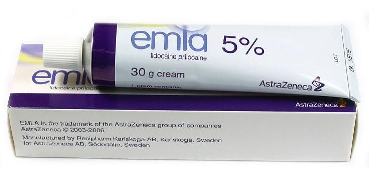 Emla 5% là dòng sản phẩm dạng gel của Công ty Dược Astra Zeneca (Thụy Sĩ)