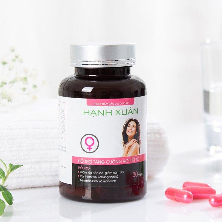 Thuốc cân bằng nội tiết tố sau sinh Hạnh Xuân được sản xuất tại Việt Nam