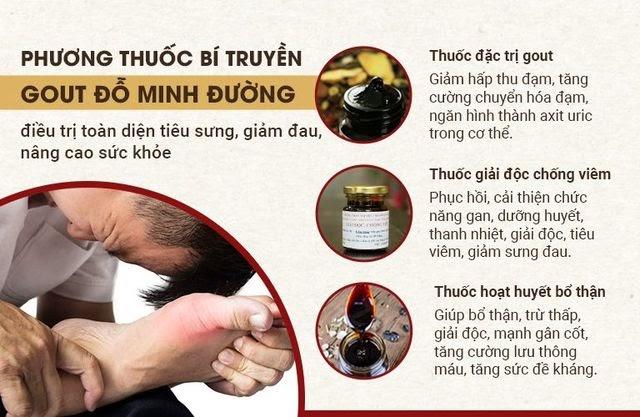 Bài thuốc trị gout Đỗ Minh được nhiều người đánh giá cao