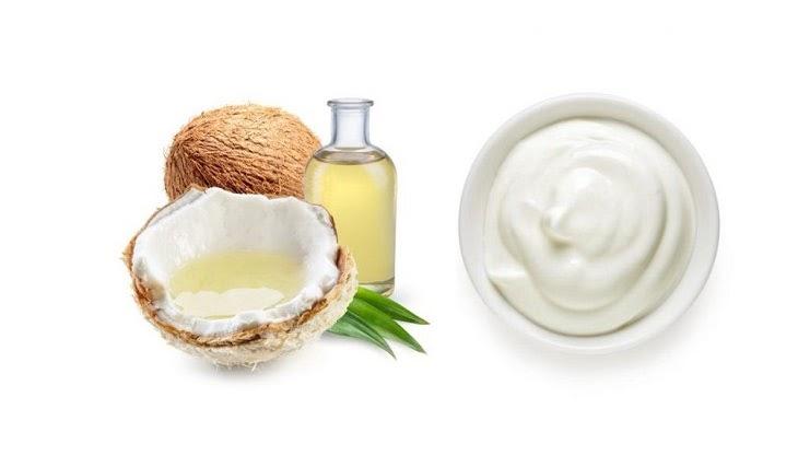 Kết hợp dầu dừa với sữa chua sẽ giúp da trở nên sáng khỏe