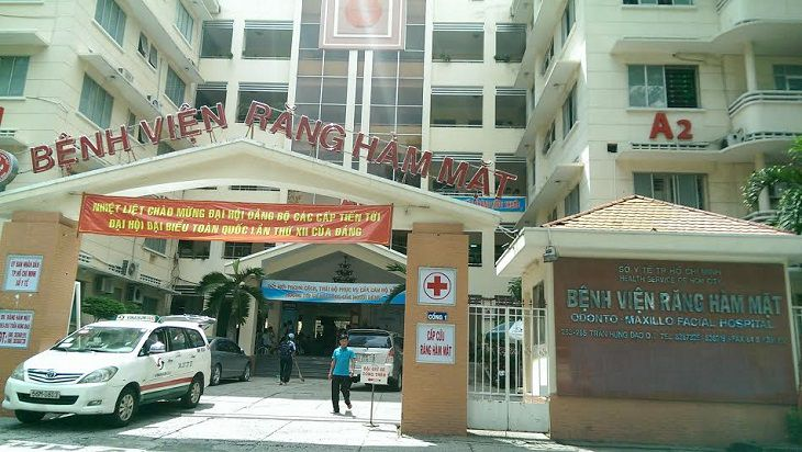 Cổng vào bệnh viện Răng Hàm Mặt Hồ Chí Minh