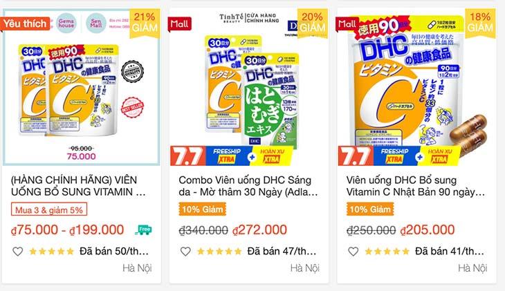 Giá tham khảo của sản phẩm trên sàn thương mại điện tử Shopee