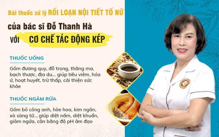 Phương pháp điều trị rối loạn nội tiết tố nữ của bác sĩ Đỗ Thanh Hà có cơ chế tác động KÉP