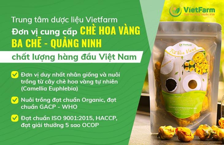 Trung tâm dược liệu Quốc gia Vietfarm - Địa chỉ phân phối trà hoa vàng Ba Chẽ Quảng Ninh chất lượng số 1 trên thị trường