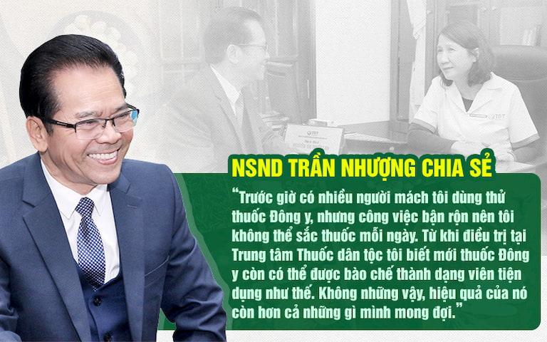 Nghệ sĩ Trần Nhượng hài lòng với ưu điểm bài thuốc