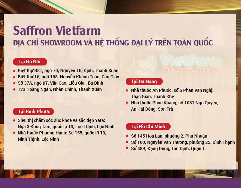 Hệ thống đại lý của Saffron Vetfarm