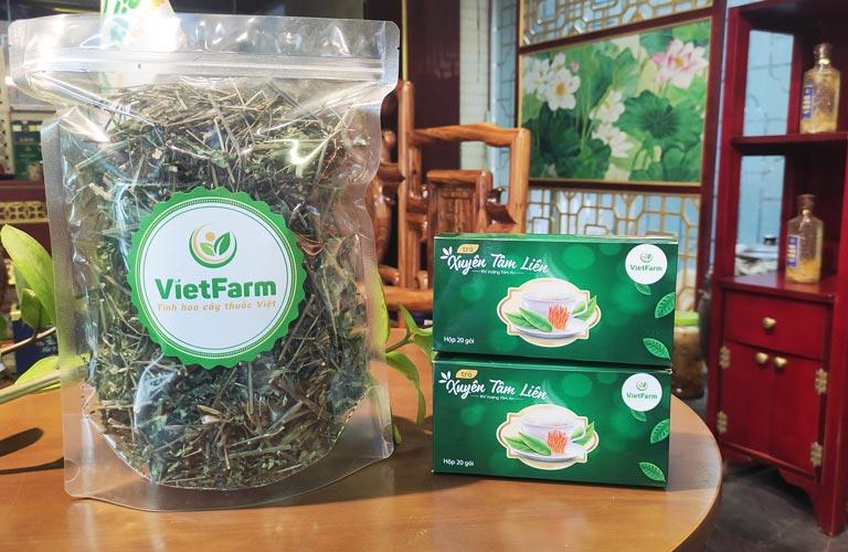Xuyên tâm liên Vietfarm sấy khô thăng hoa chất lượng cao
