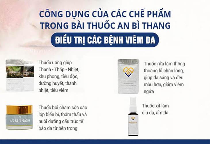 Bốn chế phẩm trong bài thuốc An Bì Thang