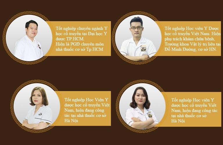 Các lương y, bác sĩ tại nhà thuốc nam Đỗ Minh Đường