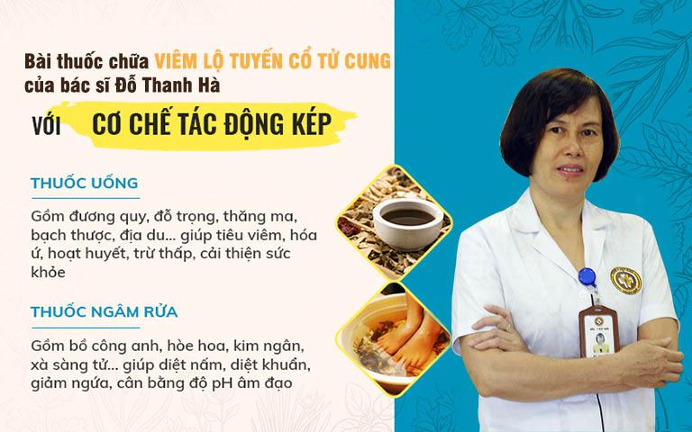 Bộ đôi chế phẩm đặc trị viêm lộ tuyến tác động kép - trị bệnh từ gốc của bác sĩ Đỗ Thanh Hà
